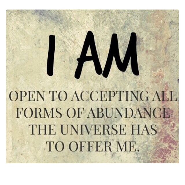 I am ready to be abundant physically and spiritually.
