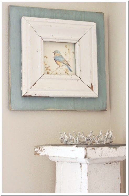 An idea for the wall colour if I use duck egg blue for curtains, furniture etc.