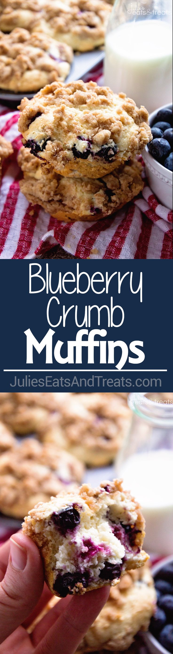 Blueberry Crumb Muffins Recipe ~ comforting, homemade blueberry muffins are the perfect morning treat, perfectly moist and delicious, bursting with juicy blueberries with a crumb topping!