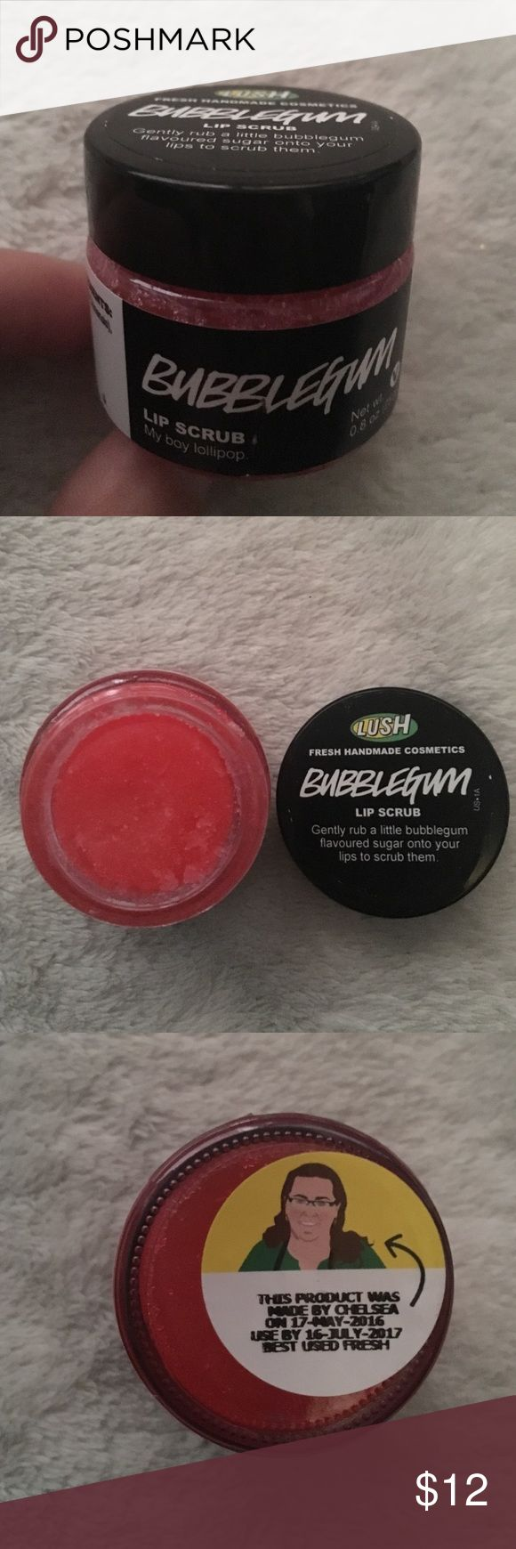 Lush Bubblegum Lip Scrub Unused lush lip scrub in bubblegum. Brand new. Got as a gift, but I already have one. Great stuff made in a San Francisco lush location. Great deal if bundled with another item! Lush Other