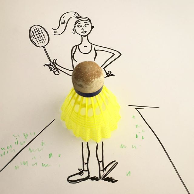 She looked nice, but she was a bad minton girl. #sports #shuttle #badminton #skirt #girl #objectart #doodle #doodles #instaart #art #drawing #idea_in_picture #drawsomething #photo  #arts_help #sketch_daily #sketch #racket #ponytail #artzworld #artnerd2016 #art_fido #mizu_art #instaartexplorer #arts_secret #cartoonarts #artdiscover #artscloud #artscrowds #thedrawingposts