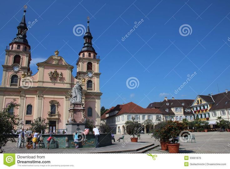 winnenden germany city square | Ludwigsburg; Germany: Main square of the German city.