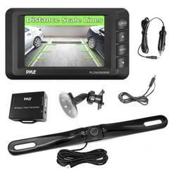 Wireless Rear View Back-up Camera & Monitor Parking/Reverse Assist System, 3.5'' Display, Distance Scale Lines, Night Vision Waterproof Cam, Swivel Angle Adjustable