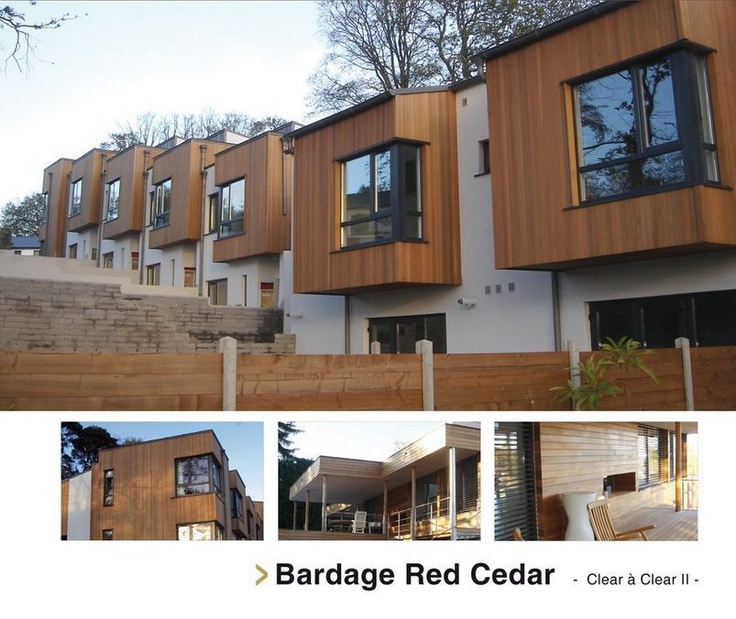 Bardage bois naturel red cedar c dre rouge rouge et ps - Bardage red cedar ...