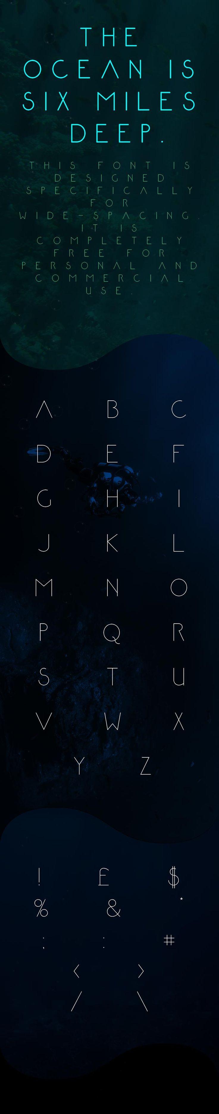 Ma chasse aux belles typographies continue et j'ai sélectionné pour vous une fois de plus une belle typo gratuite que vous allez pouvoir utiliser pour un usage personnel et commercial. Il s'agit de la typo Abyssopelagic, une typo uniquement en uppercase conçue par le designer anglais Mark White. Télécharger cette typographie gratuite