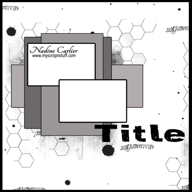 2 photo 12 X 12 scrapbook sketch layout by @scrappinready