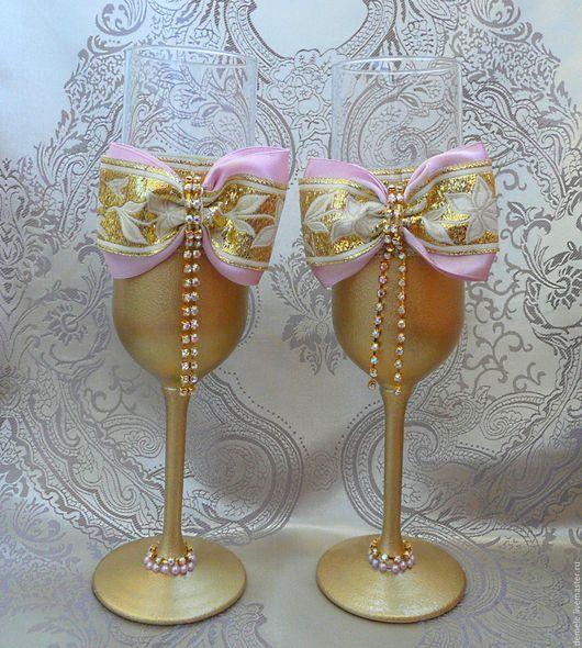 бокалы для свадьбы, свадебные бокалы, золотые бокалы, бокалы, бокалы на юбилей, бокалы для торжества, свадьба, свадебные подарки, бокалы для молодоженов, бокалы жениха и невесты, Краснодар.