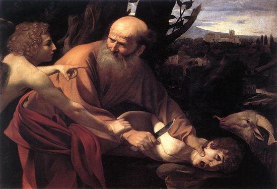 sacraficio de Isaac, de Caravaggio