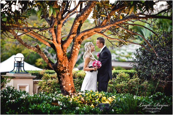 Resort style wedding - use of beautiful grounds at Sanctuary Cove! Image by Leigh Reyne Photographer