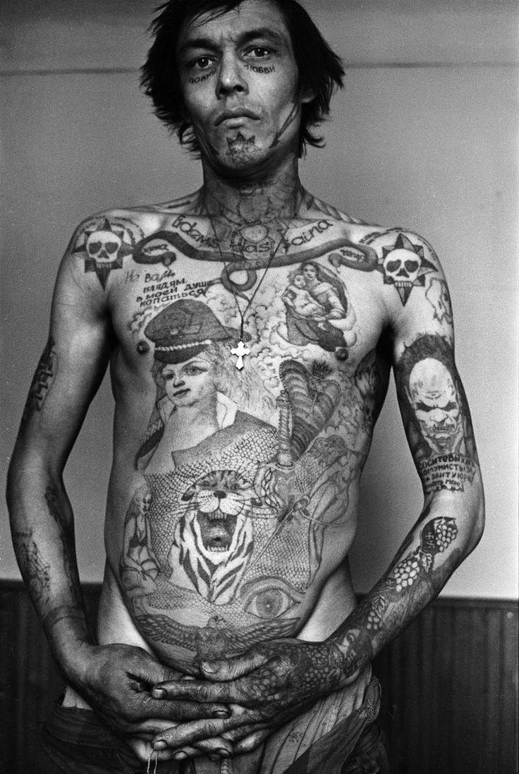 Tatouages de prisonniers russes tatouage encyclopedie criminel russe prison 01 photo
