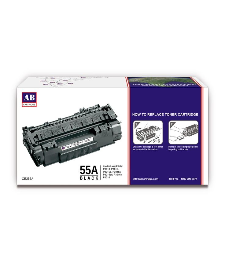 Loved it: AB 55A Black Toner Cartridge / HP 55A Black Toner / For HP LaserJet P3010, P3015, P3015d, P3015n, P3015dn, P3015x, P3016, http://www.snapdeal.com/product/ab-55a-black-toner-cartridge/1939135610