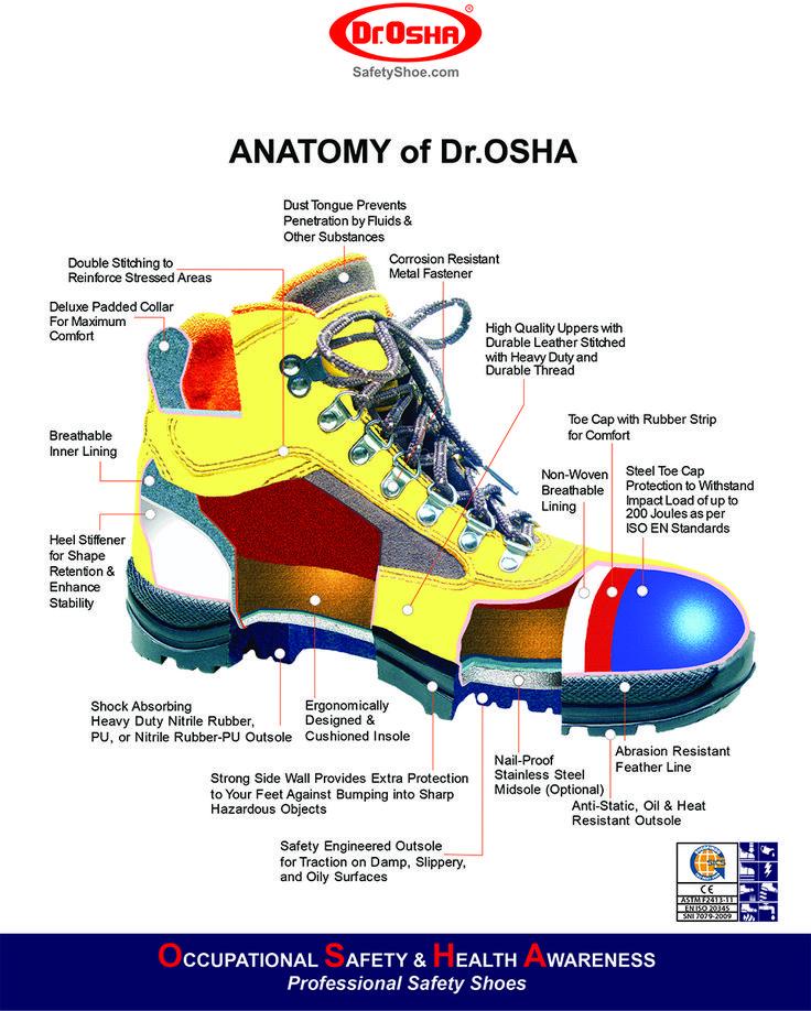 BagianBagian Sepatu Keselamatan/Sepatu Safety Sepatu