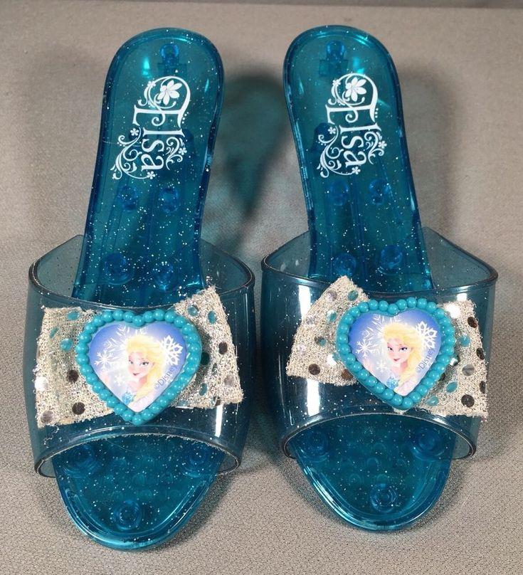 Play Dress Up Shoes Elsa Frozen Disney Princess Blue #Disney #Dress