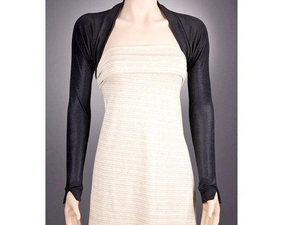 Black long sleeve bolero designer bolero black bolero for Designer bolero