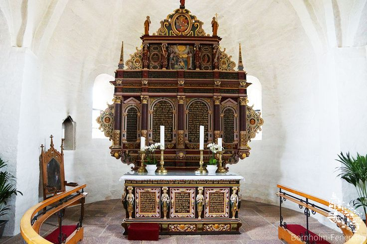 Altar der Aa Kirche in Aakirkeby, Bornholm #altar #kirche #kirke #aakirkeby #aakirche #aakirke #bornholm