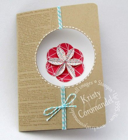 View video tutorial on how to create paper embellishments for your cards at the below website www.kristycoromandel.com