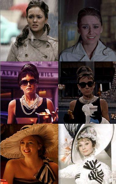 Blair Waldorf as Audrey Hepburn.  Gossip Girl.  Leighton Meester.