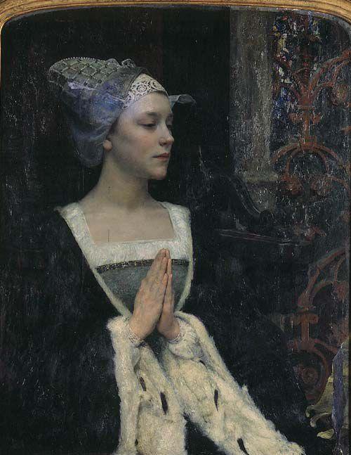 Edgard Maxence (1871-1954) - Sérénité (huile sur bois, musée Sainte-Croix de Poitiers, France)