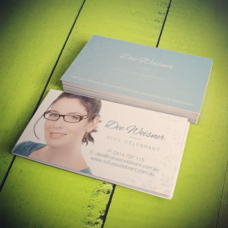 I had fun designing these business cards for Dee, a local civil celebrant. For more business card designs visit www.concept-designs.com.au
