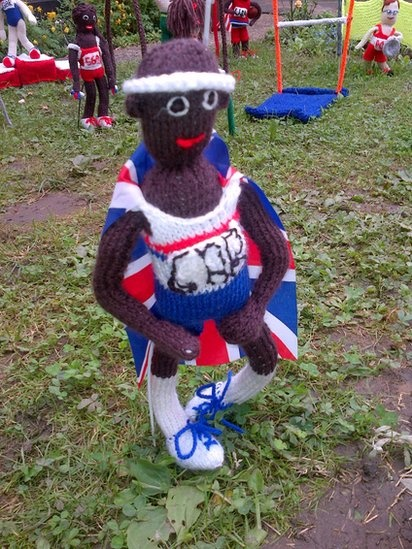 Knitted Team GB athlete