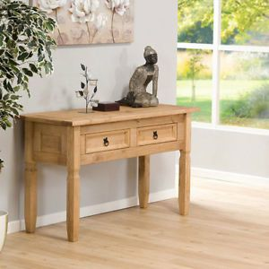 natural pine rustic wood accent table aztec console sofa style wood modern hall ebay