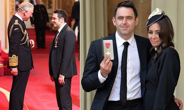 Ronnie O'Sullivan collects OBE at Buckingham Palace