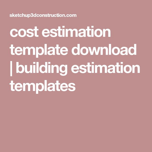 cost estimation template download | building estimation templates