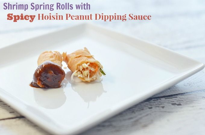 Shrimp Spring Rolls with Spicy Hoisin Peanut Dipping Sauce Recipe ...