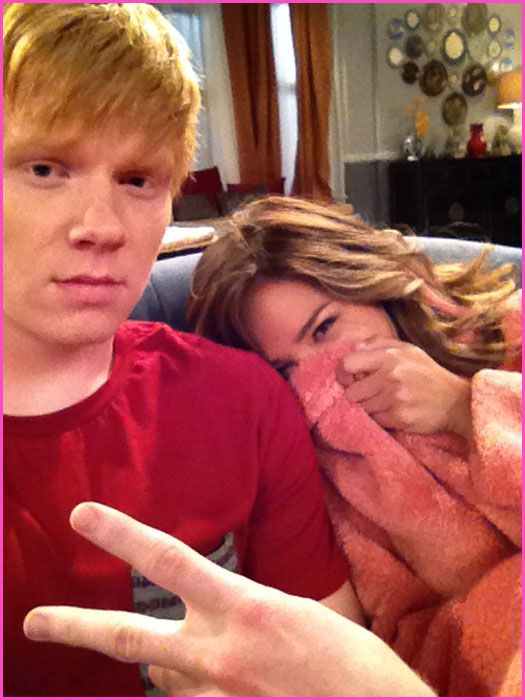"""Adam Hicks And Kelsey Chow On The Set Of Disney XD's """"Pair ..."""
