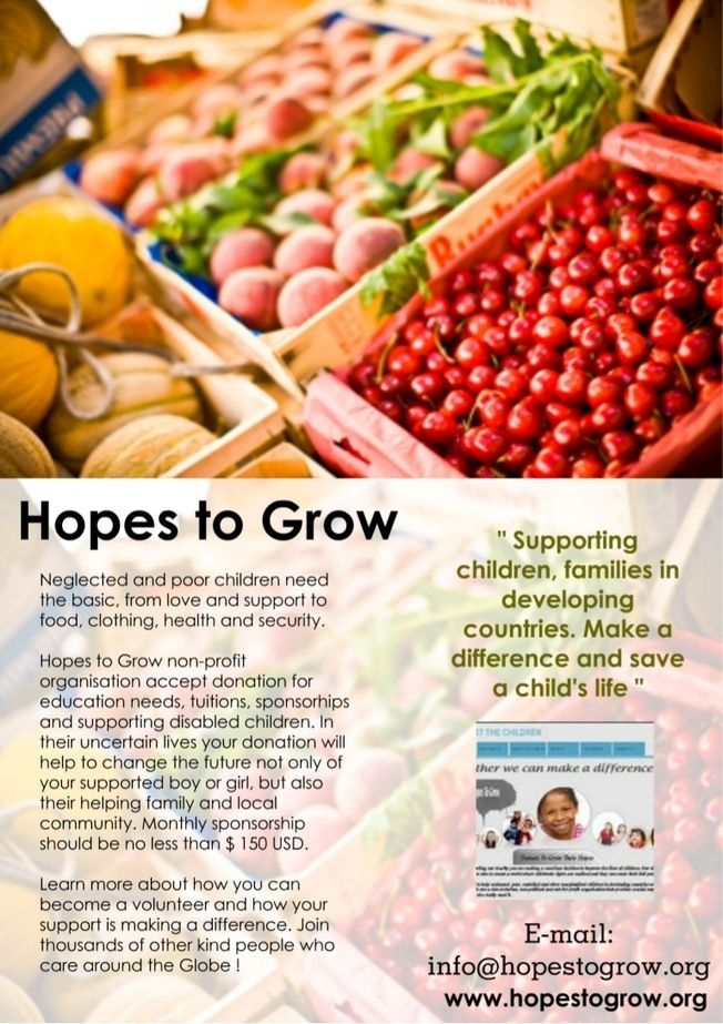 Please like and share Hopes to Grow #Slideshare Presentation so more and more people will get info about our charity