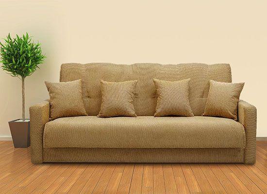 5900  Диван книжка Милан-представляет из себя прямой диван с двумя размерами спального места стоит на надежных металических ножках прямые подлокотники достаточно широкие выпускается в различных цветах на выбор.Коричневый,бежевый,салатовый,светло-коричневый,красный,черный.   Каркас: массив дерева(сосна), ДСП, фанера   Механизм: книжка   Ткань: гобелен/шенил   Габариты (ШхДсм): 107х210 см   Спальное место (ШхДсм): 120х190 см-5900 р+доставка Спальное место (ШхДсм): 140х190 см 6700 р+доставка…
