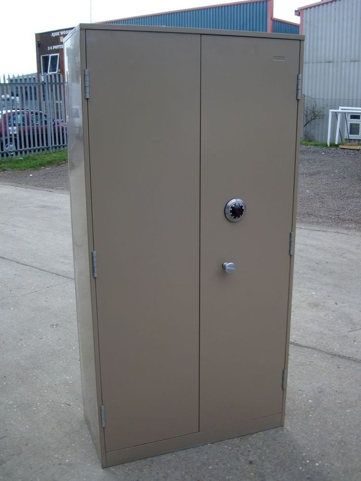 Used Ex Mod 2 Door Security Cupboard Safe With Chubb