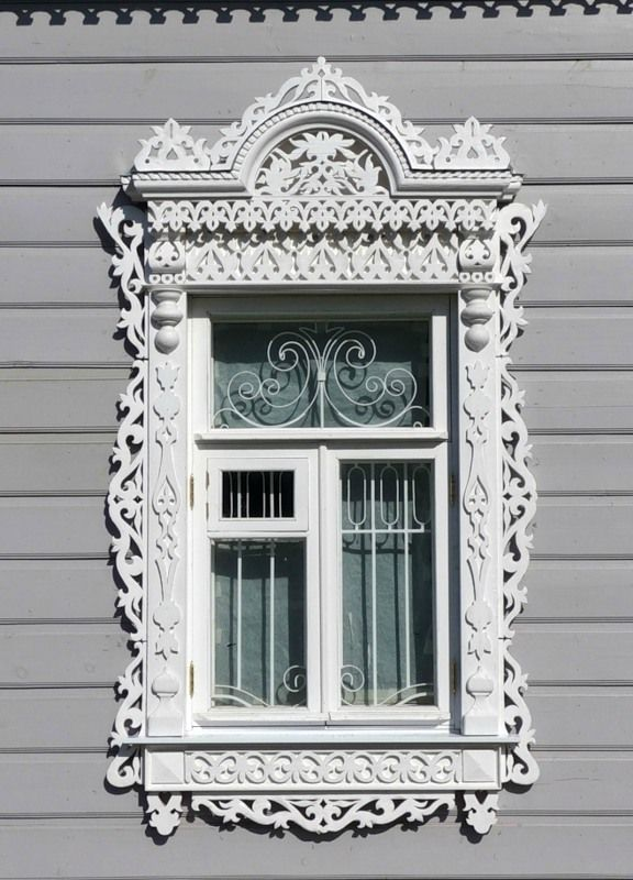 Ornate Architectural Mouldings : Traditional decorative carved wood window frame trim