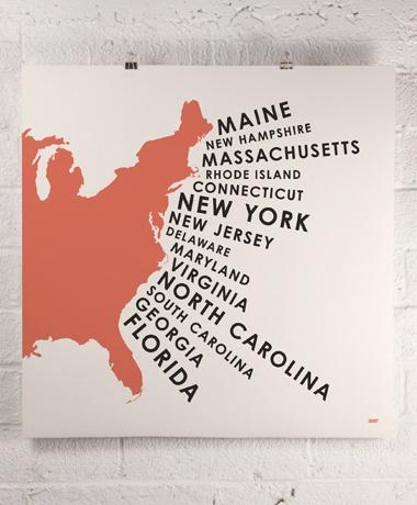 ORANGE & PARK / east coast states print