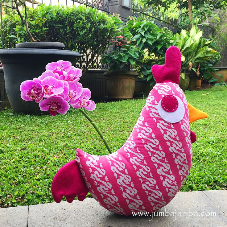 Little Rooster Pillow from JumbaJamba