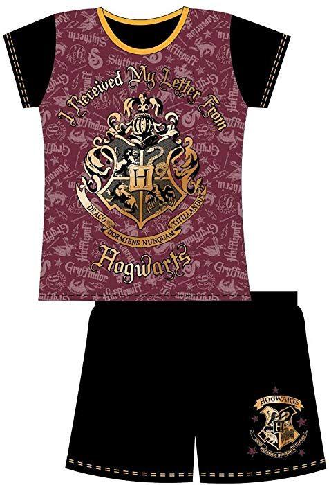 160bcf591 Harry Potter Kids Childrens Girls Harry Potter 2 Piece Shortie Pyjama Set,  Letter from Hogwarts, 5/6: Amazon.co.uk: Clothing