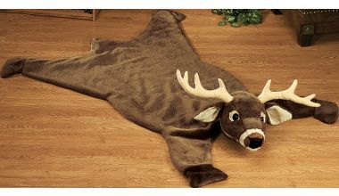 Plush Deer Rugs for baby boy room   teeehehehe