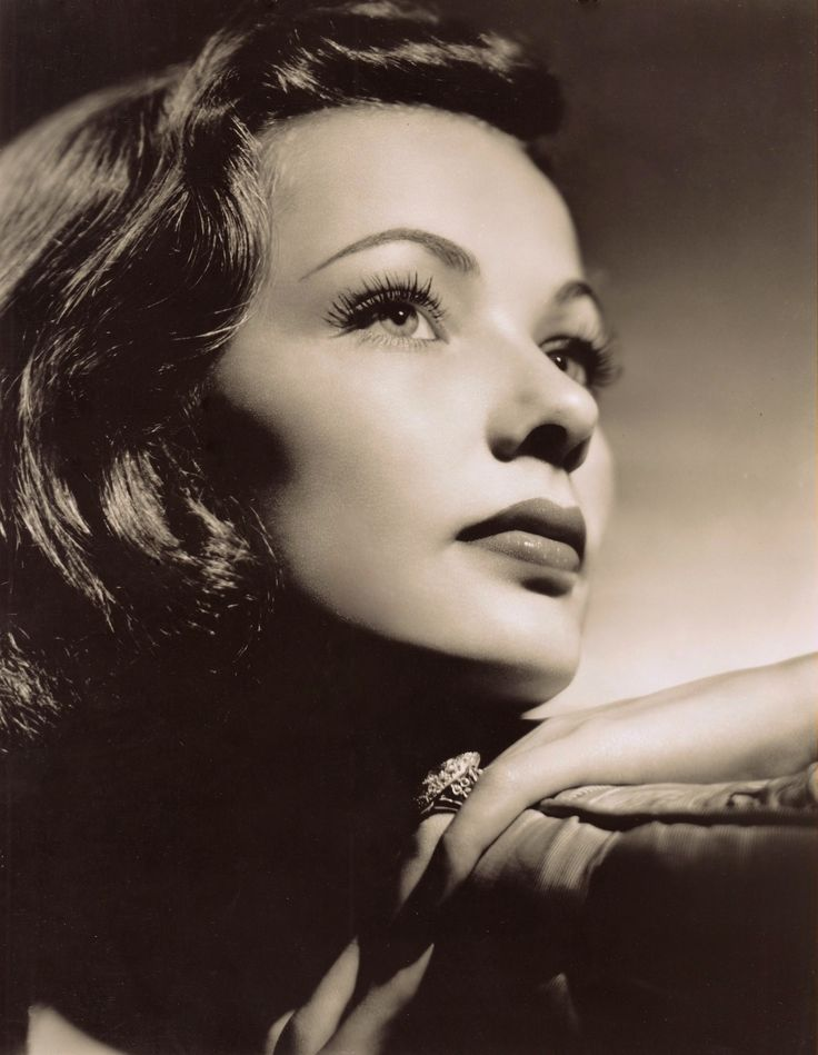 GENE TIERNEY (1920-1971) Hauntingly beautiful actress known for superb film noir's, great dramas & a flair for lighter roles. Including Son of Fury '42, Heaven Can Wait '43, Laura '44, The Razor's Edge '46, The Ghost & Mrs Muir '47, Whirlpool '49, Night & the City '50, Where the sidewalk ends '50, On the Riviera '51. The Egyptian '54. 1940's  photo Please follow minkshmink on pinterest) #genetierney #filmnoir #forties