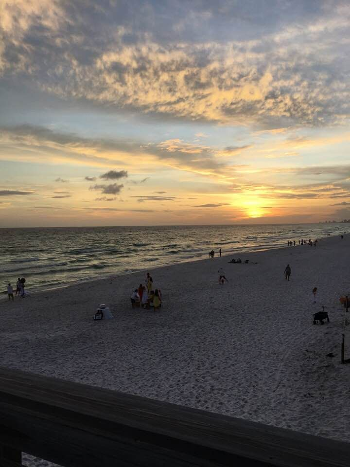 Beautiful Sunset At St Andrews State Park In Panama City Beach Fl