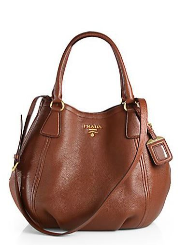 Prada Daino Convertible Satchel in marrone-brown