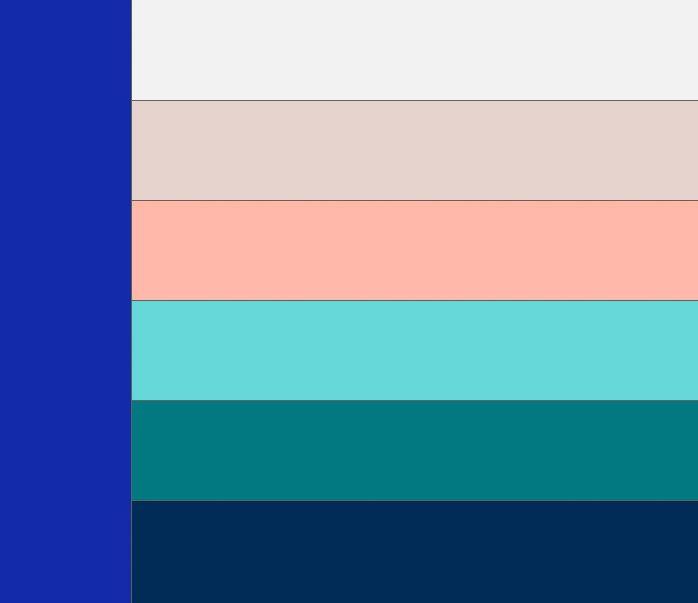 Таблица сочетания синего цвета