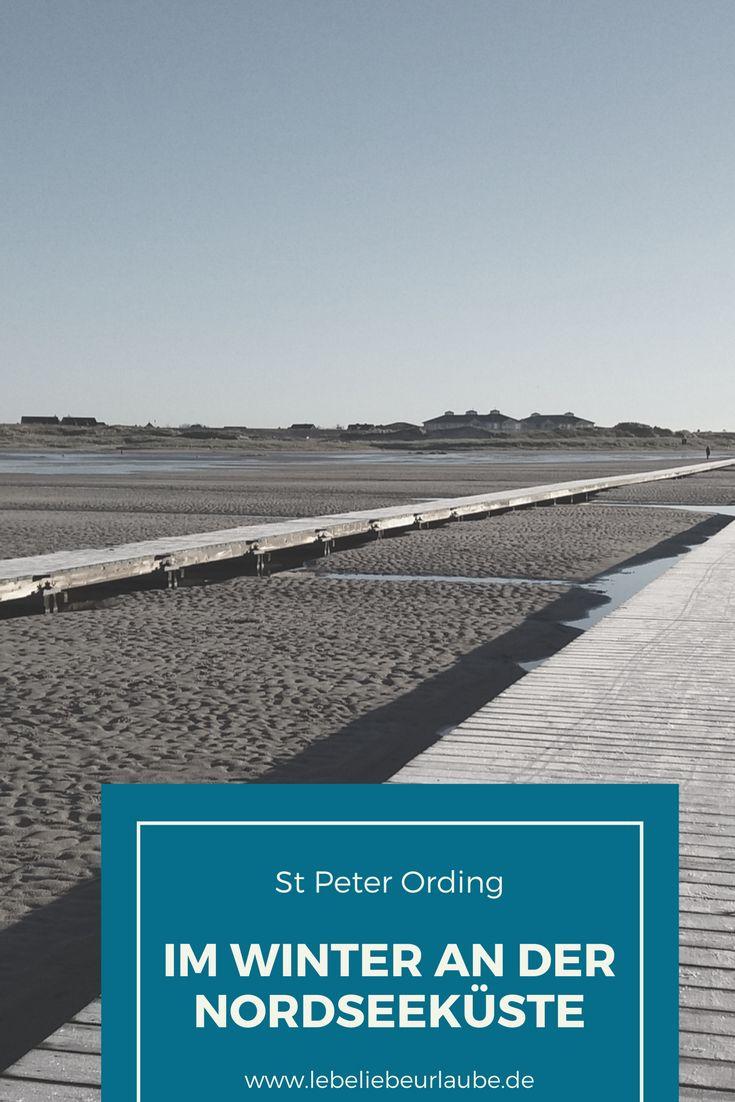 Strandspaziergang im Winter - in St. Peter Ording bei mildem Klima traumhaft.
