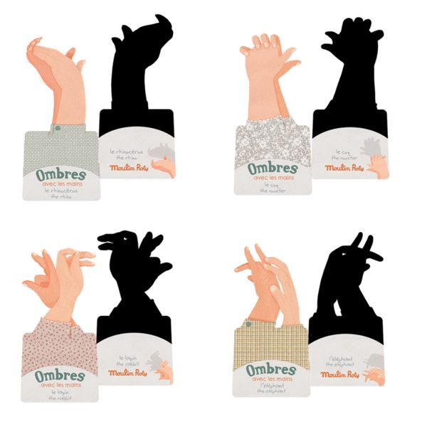 Moulin Roty - Hand Shadow Puppets - Moulin Roty - Brands #pintowin #entropywishlist I would love this to expand my hand puppet repertoire from just 'duck'