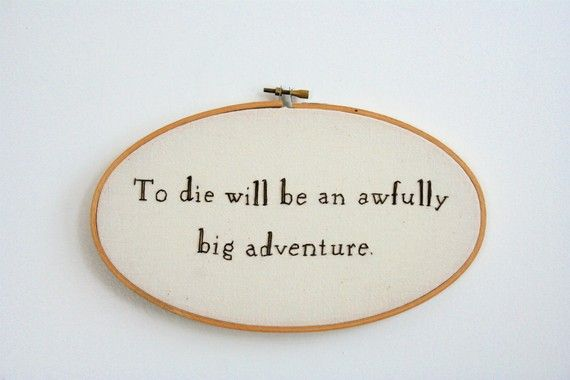 so...I know this is a little morbid, but it was always one of my favorite quotes from Peter Pan.Hand Embroidery, Peter Pan 3, Old Disney Movies, Costume Peterpan, Peter Pan Quotes, Favorite Quotes, Embroidery Hoops, Difference Quotes, Boys Who