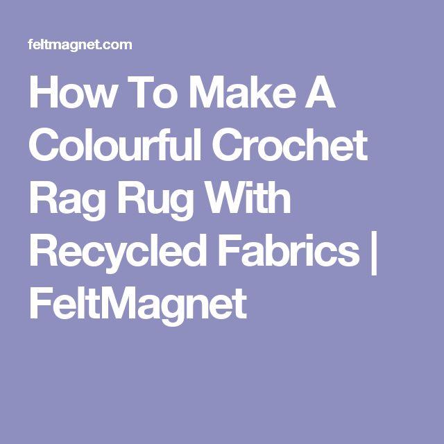 how to make fabric rag rug
