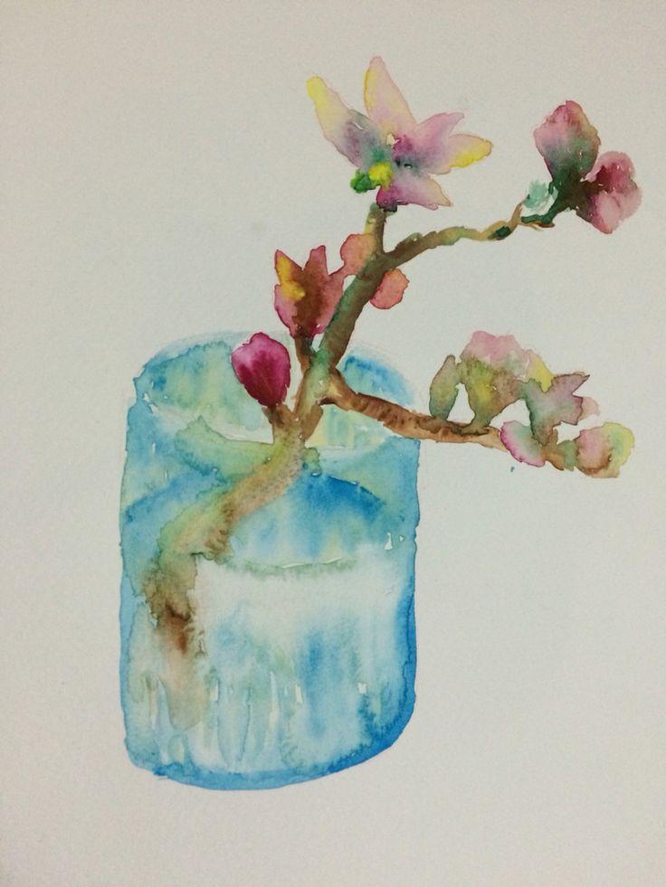 Still life, watercolor - Andrea Meyerholz