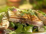 GRILLED SWORDFISH WITH A CITRUS HERB VINAIGRETTE | Emeril Lagasse *Grill http://www.foodnetwork.com/recipes/emeril-lagasse/grilled-swordfish-with-a-citrus-herb-vinaigrette-recipe/index.html  ⇨ Follow City Girl at link https://www.pinterest.com/citygirlpideas/ for great pins and recipes!  ☕