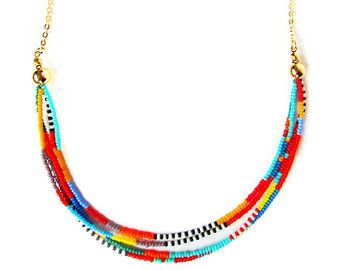 Multi Strand Necklace and Earring Set by ArtisansintheAndes