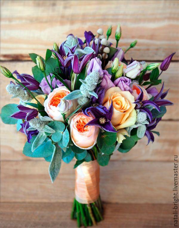 Beautiful wedding bouquet / Купить Свадебный букет невесты из живых цветов Прованс - букет невесты из цветов