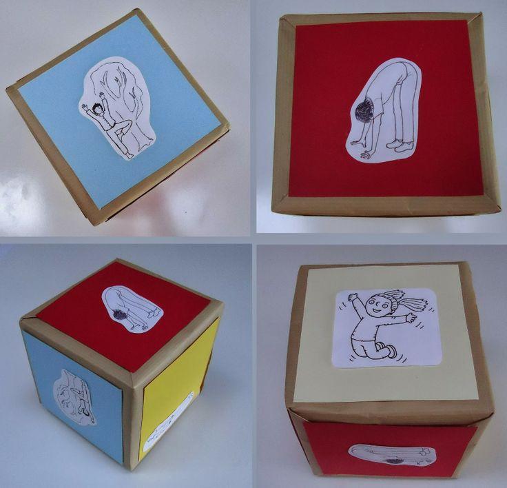DIY dobbelsteen spelletje met de kindjes: springen, zingen, dansen,...